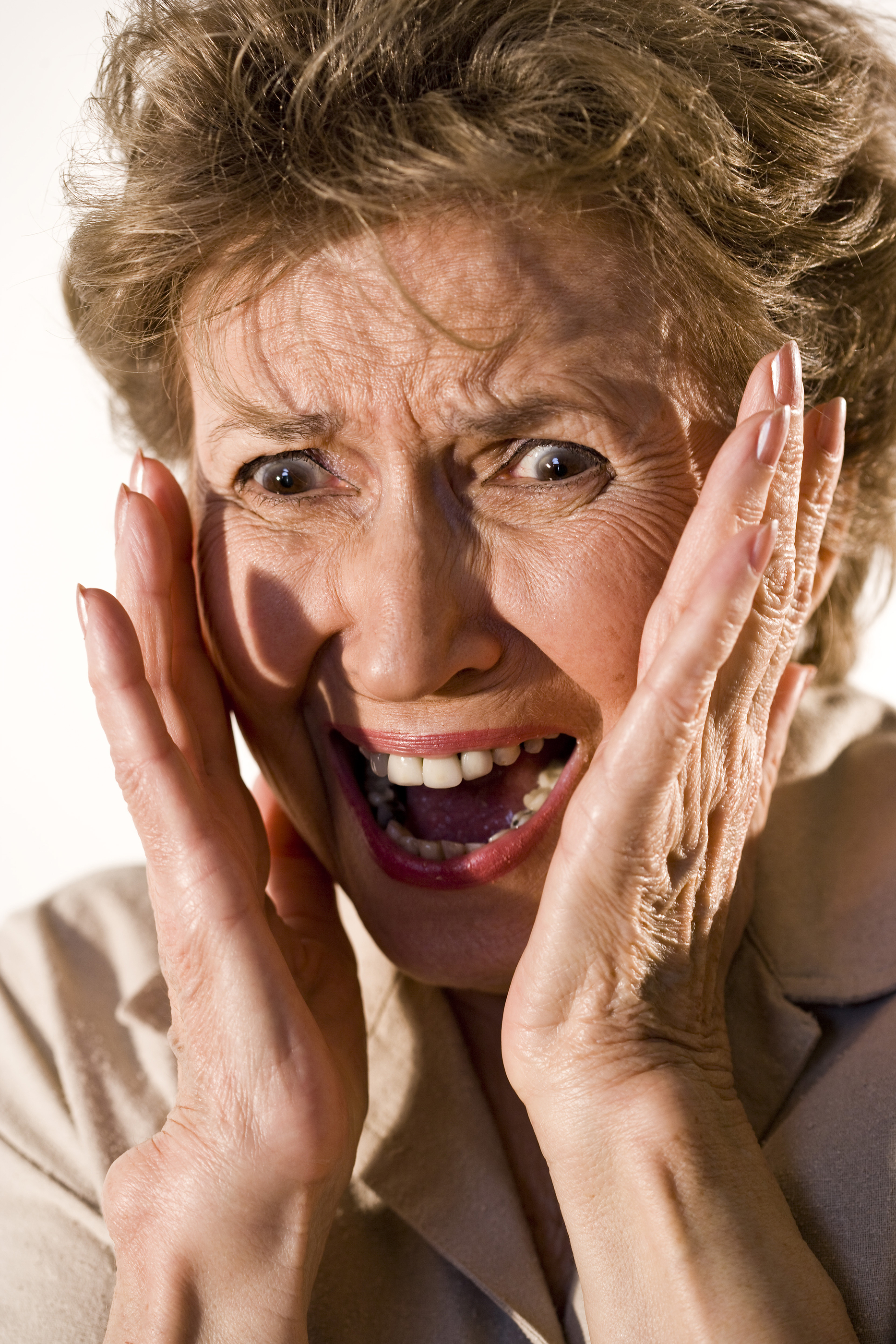 Elderly woman with frightened look on her face - Minnesota ...